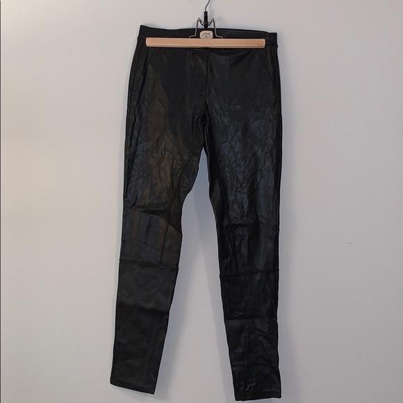 Wilfred // 'Rebelle' Black Vegan Leather Leggings